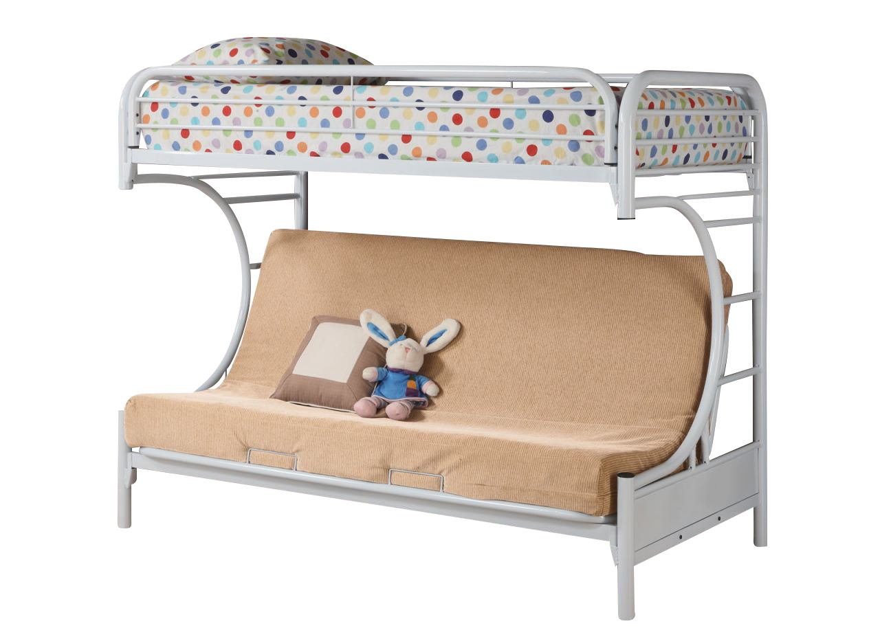 Coaster Youth Twin Futon Bunk Bed In White 2253w