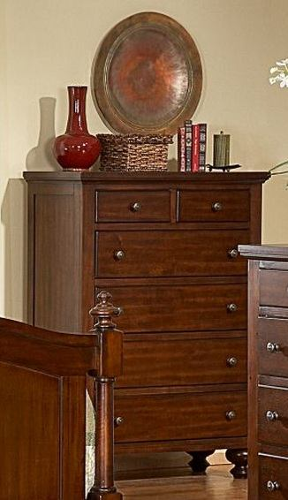 Homelegance Aris Chest in Warm Brown Cherry 1422-9
