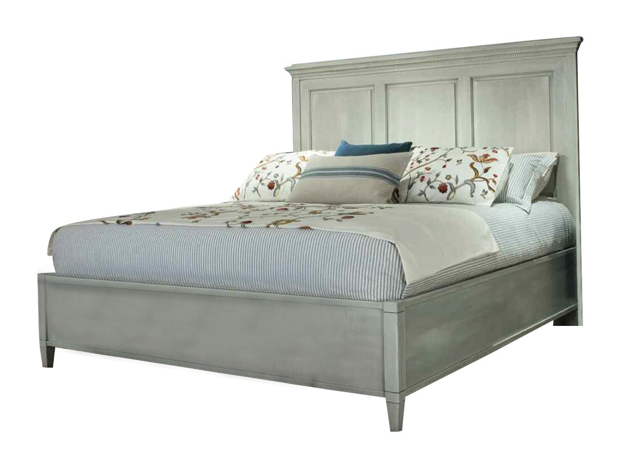 Durham Furniture Springville King Panel Bed in Truffle 145-144-TRFL