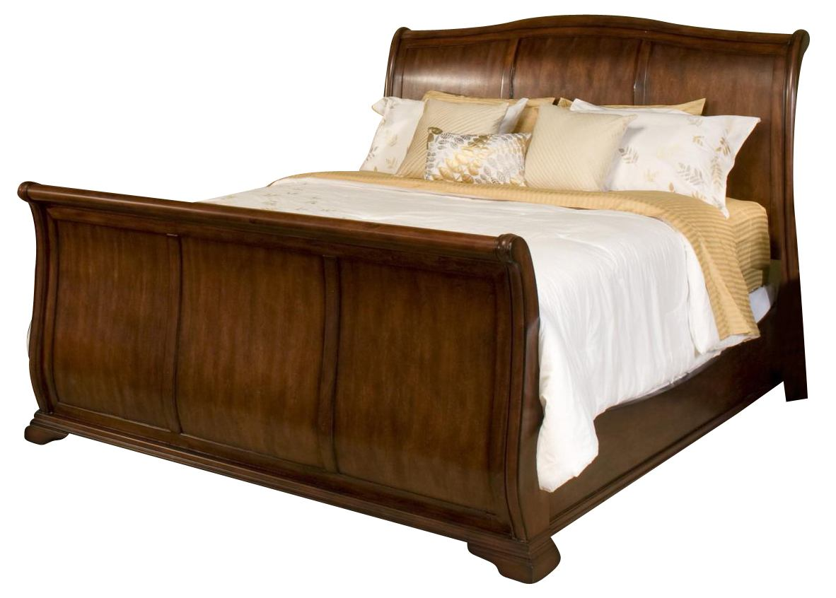 New Classic Whitley Court Eastern King Sleigh Bed in Tobacco Finish CLOSEOUT