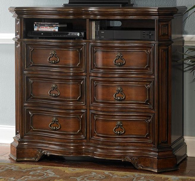 Homelegance Montvail TV Chest in Rich Warm Cherry 2105-11