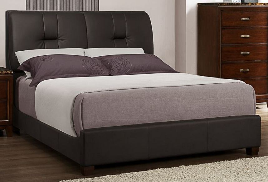 Homelegance Bleeker Queen Panel Bed in Grey 2112PU-1