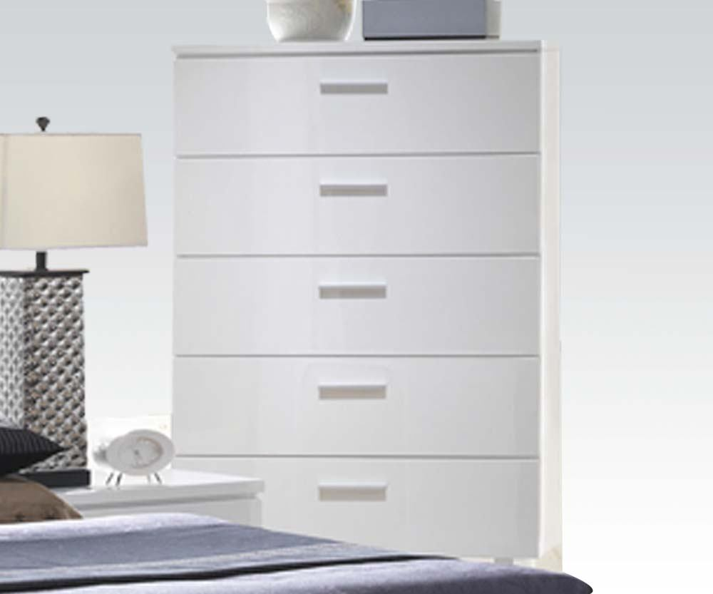 Acme Furniture Lorimar 5 Drawer Chest in White 22636