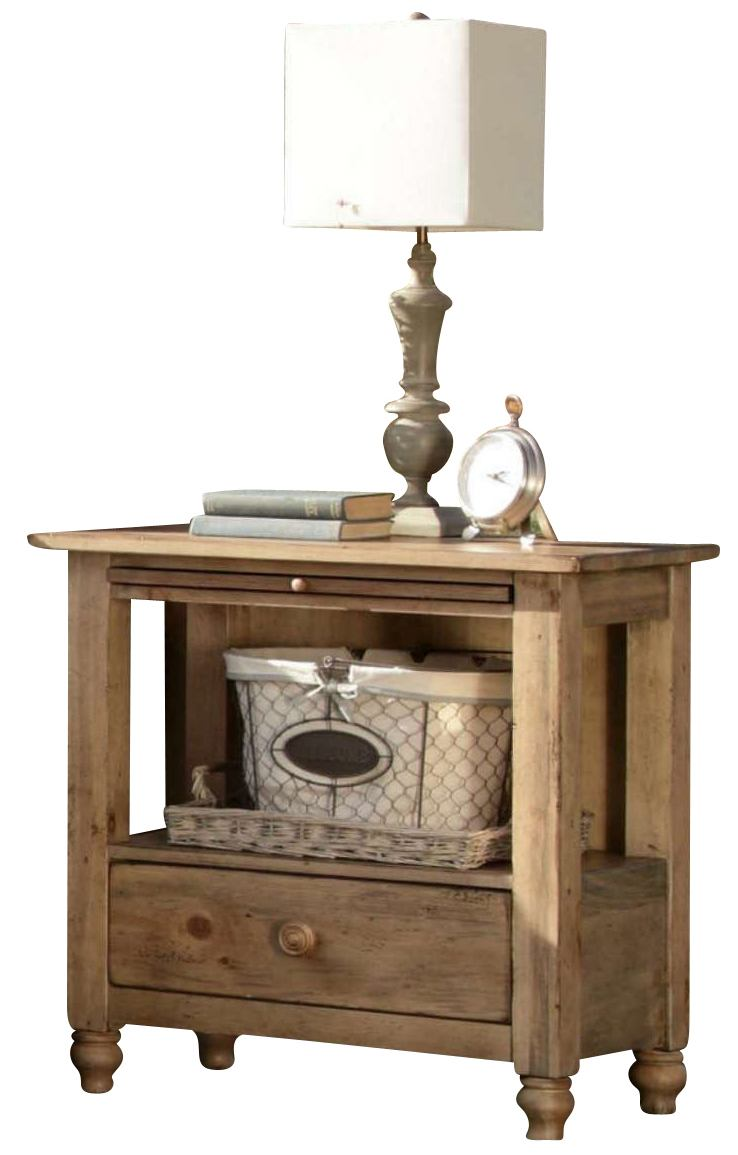 Kincaid Homecoming Solid Wood Open Nightstand in Vintage Pine 33-143