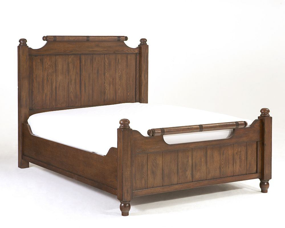 Broyhill Attic Heirlooms Queen Feather Bed in Natural Oak Stain