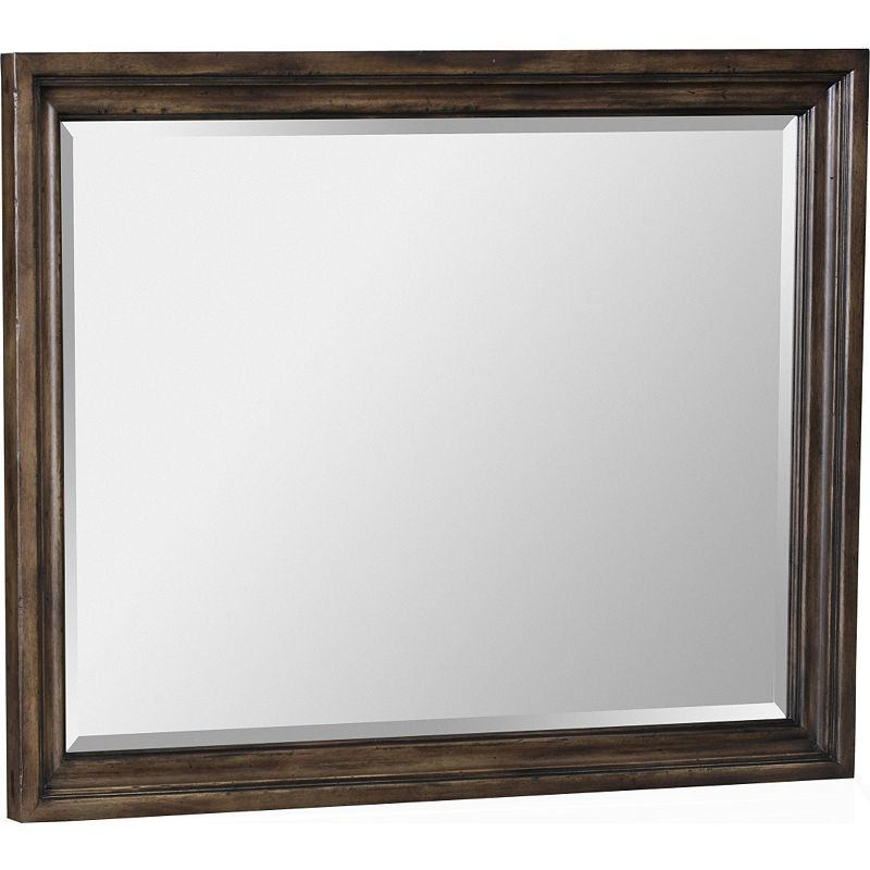 Broyhill Furniture Pike Place Picture Frame Mirror in Oak 4850-236