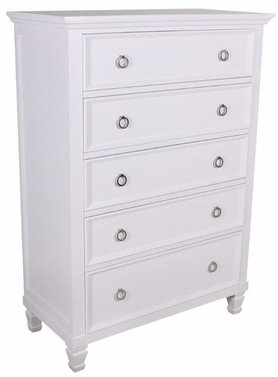 New Classic Tamarack 5-Drawer Chest in White 00-044-070