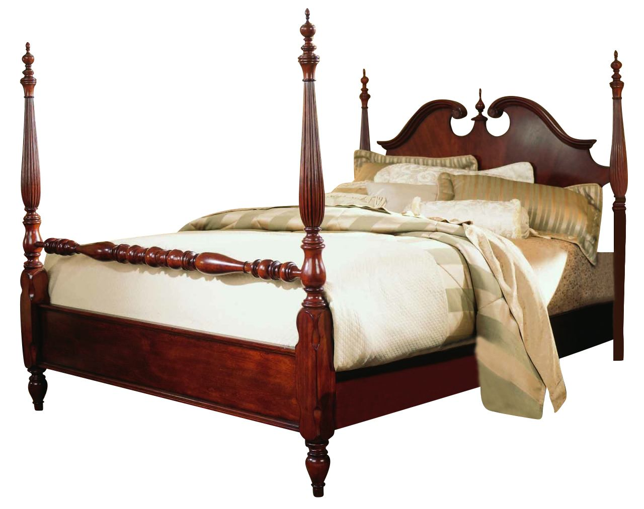 American Drew Cherry Grove King Low Poster Bed
