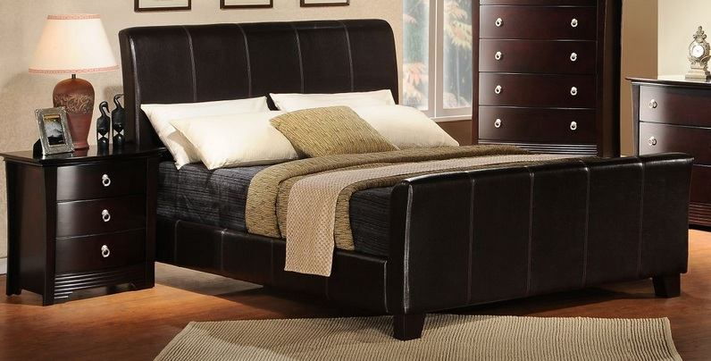 Homelegance Syracuse II King Sleigh Bed in Merlot 5785K-1EK