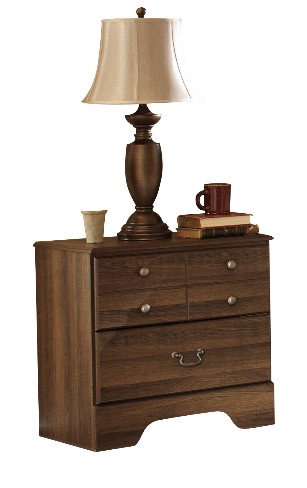 Allymore Two Drawer Nightstand in Brownish Gray B216-92