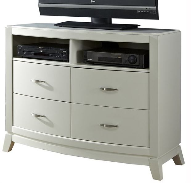 Liberty Furniture Avalon Media Chest in White Truffle 205-BR45