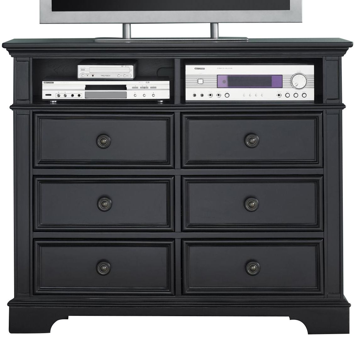 Liberty Furniture Carrington II Media Chest in Black 917-BR45