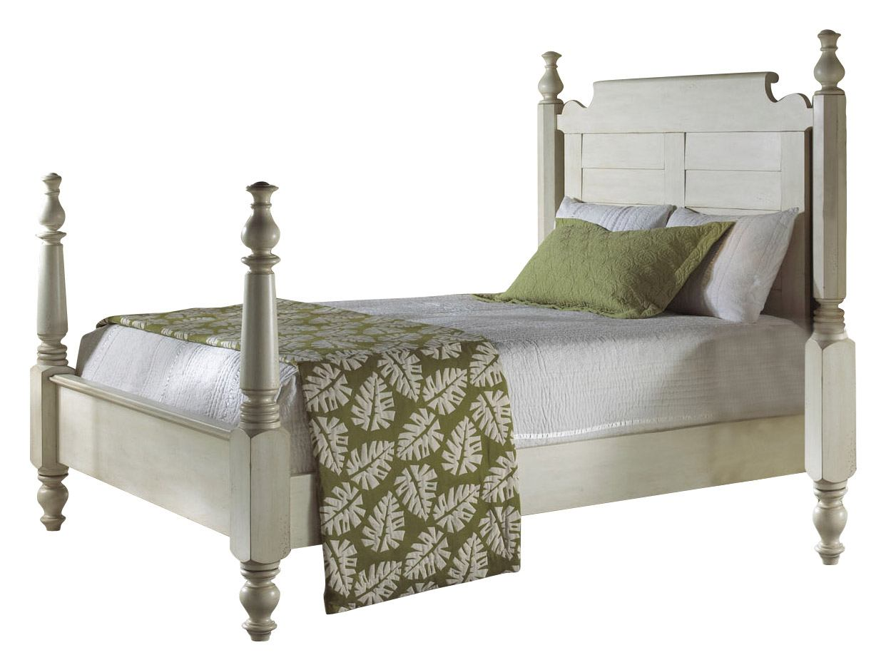 Fine Furniture Summer Home Queen Post Bed in Shell 1051