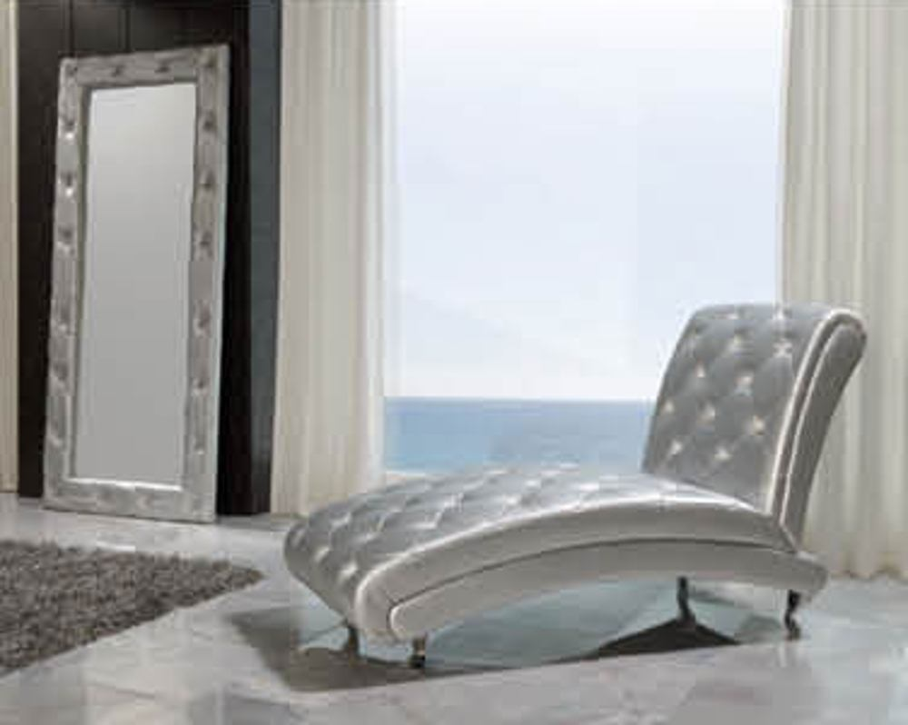 ESF Furniture 623 Lorena Chase Lounge B6 in Silver