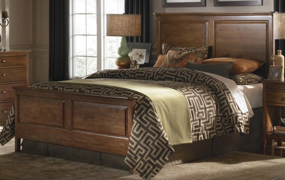 Kincaid Cherry Park Solid Wood Panel Bedroom Set