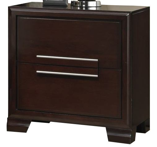 Crown Mark Furniture Landon Nightstand in Dark Brown B6830-2 CLEARANCE