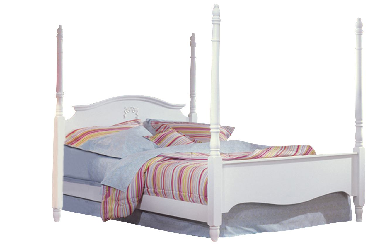 Carolina Furniture Cottage Twin Princess Bed in White