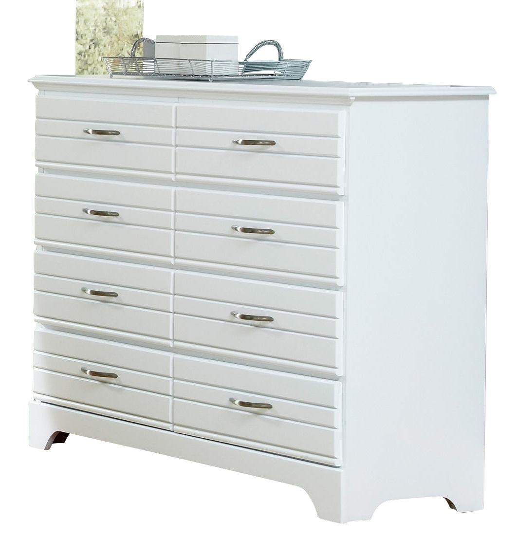Carolina Furniture Platinum Tall Dresser in White 515800