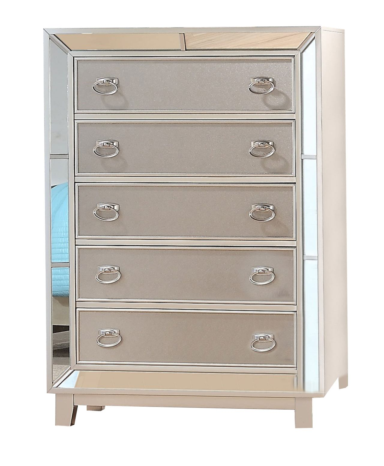 New Classic Furniture Stefano Chest in Silver B1492-070