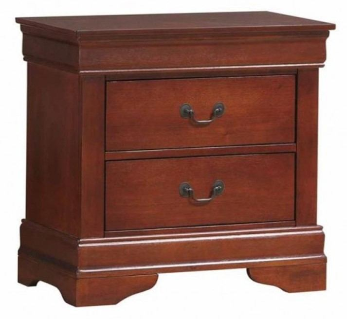 Coaster Louis Philippe Nightstand in Cherry 200432R