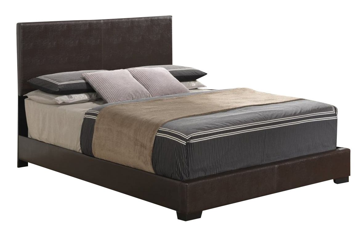 Global Furniture 8103 Queen PU Bed in Brown