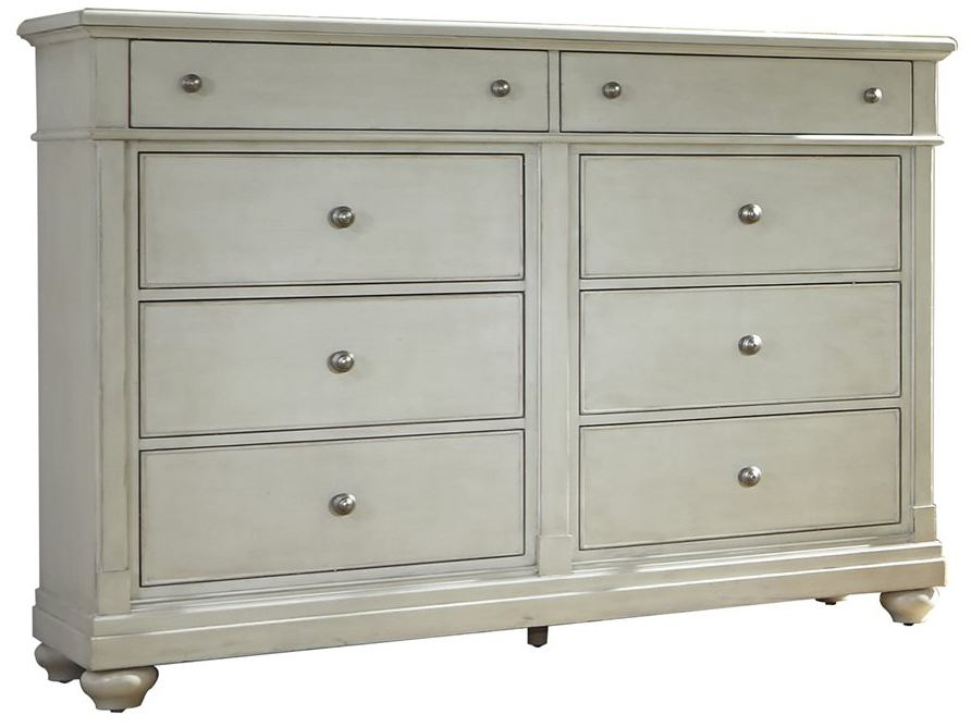 Liberty Furniture Harbor View III 8 Drawer Bureau in Dove Gray 731-BR32