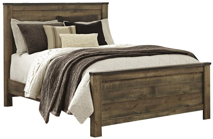 Trinell Queen Panel Bed in Warm Rustic Oak B446-QUEEN CLEARANCE