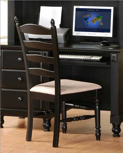 Homelegance Pottery Side Chair in Black 875-11C