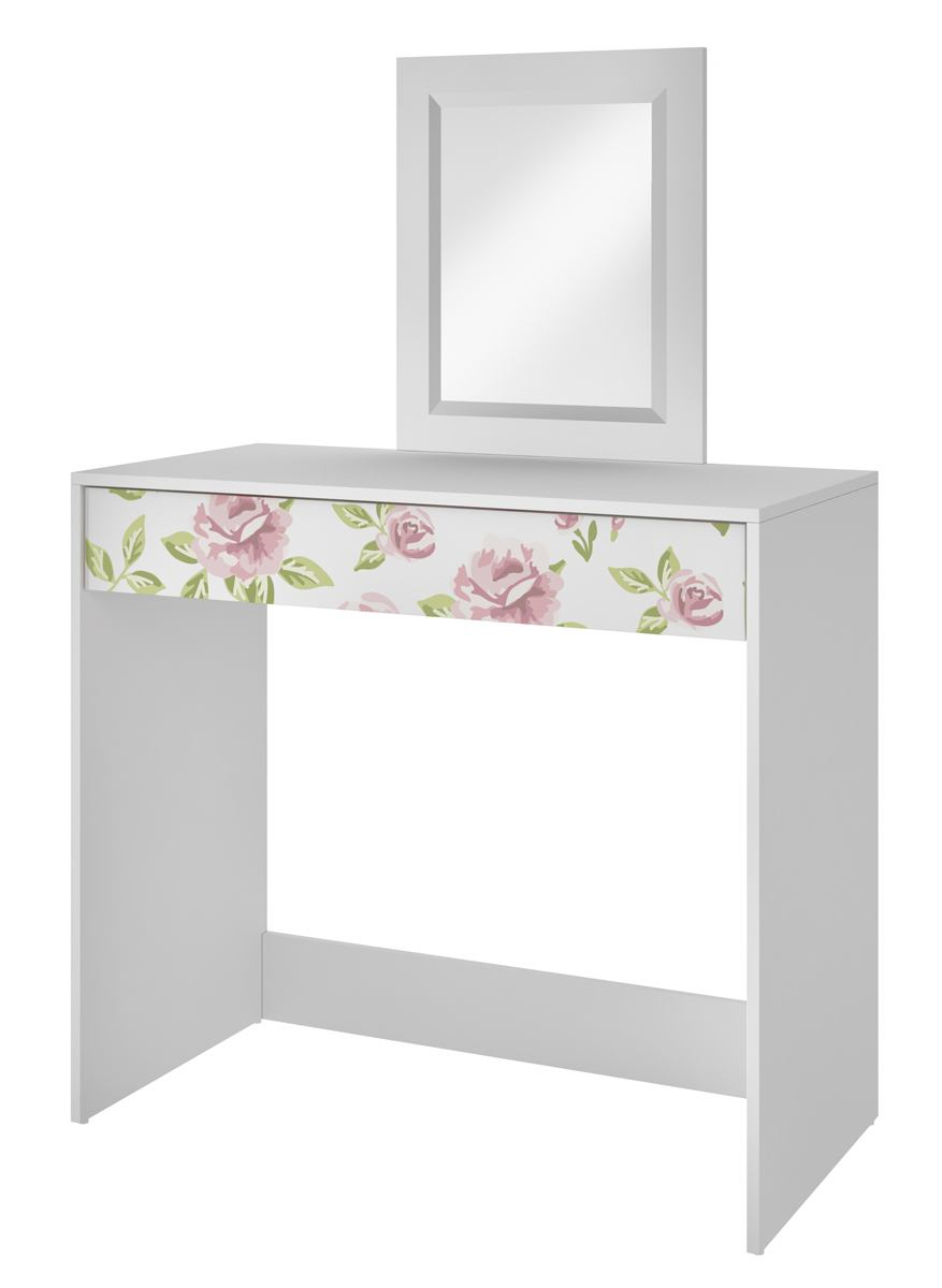 Accentuations by Manhattan Comfort Victoria Vanity with Mirror in White 91AMC141