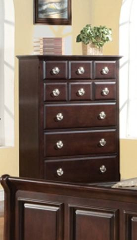 Meridian Brooke 5 Drawer Chest in Espresso