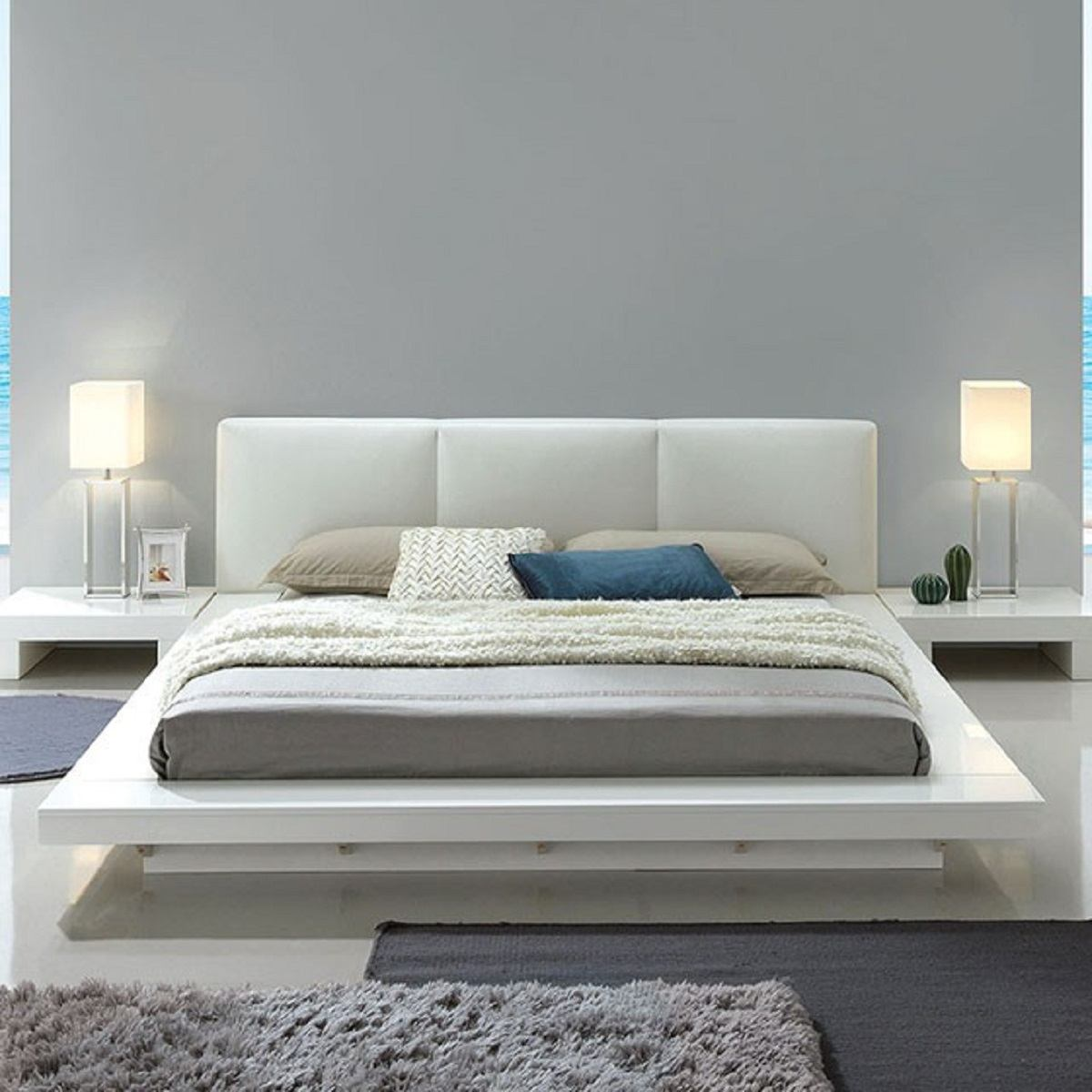 Furniture Of America Christie California King Platform Bed In White Cm7550ck