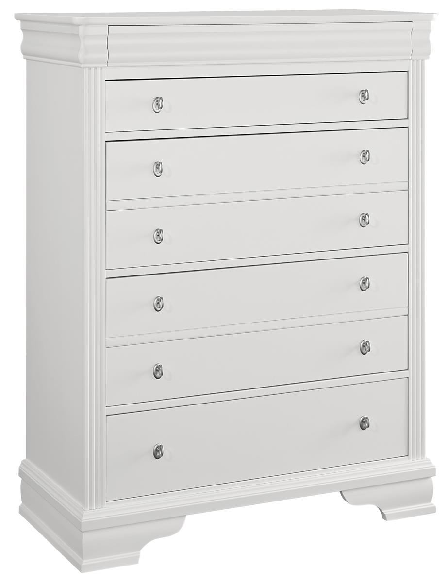 All-American New Orleans 5 Drawer Chest in Soft White
