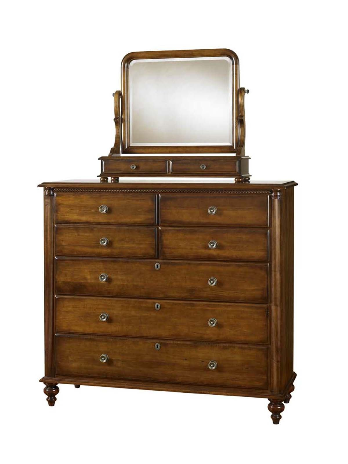 Durham Furniture Savile Row Dressing Chest in Park Lane finish (Dressing Mirror sold separately)