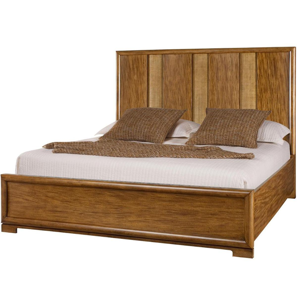 American Drew Grove Point California King Raffia Panel Bed in Sand 314-317R CODE:UNIV20 for 20% Off