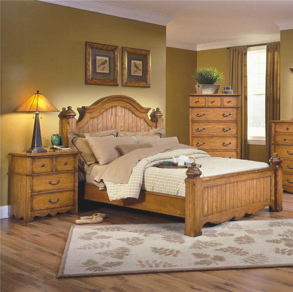 New Classic Hailey Eastern King Panel Bed in Toffee Finish 4431-110A