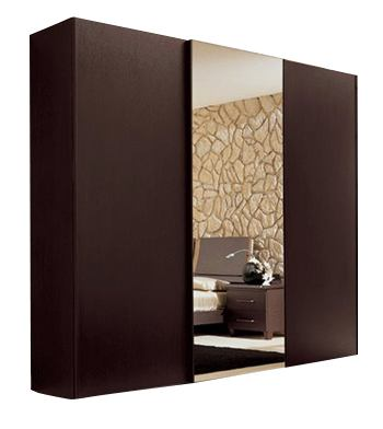 ESF Furniture Miss Italia 2 Door Wardrobe with 3 Drawer Block in Matte