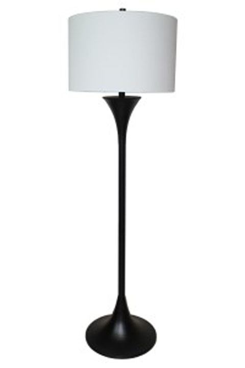 Joakim Metal Floor Lamp in Black L207141