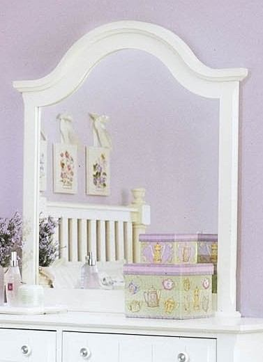 All-American Lodge Collection Vertical Mirror in Snow White
