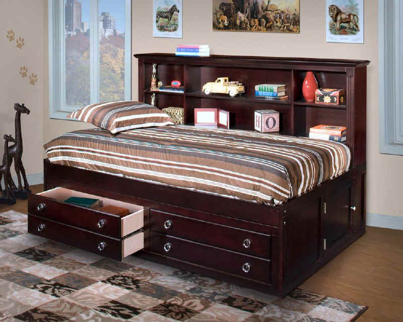 New Classic Victoria Youth Full Lounge Bed in Espresso Finish 05-623-412