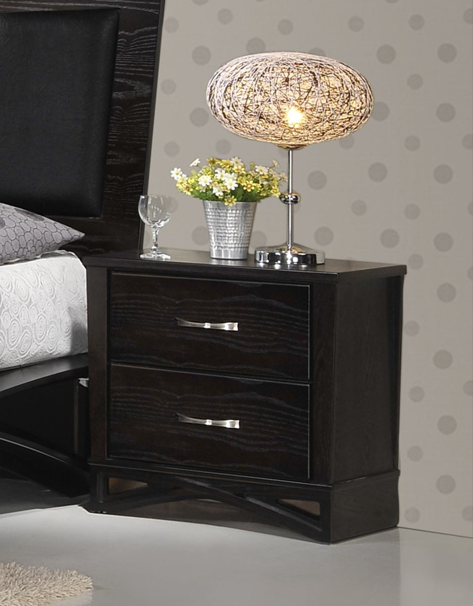 Global Furniture Fairmont 2 Drawer Nightstand in Dark Cappuccino