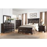 New Classic Sevilla 4-Piece Bedroom Set in Walnut