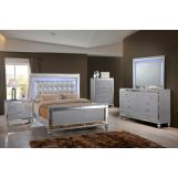 New Classic Furniture Valentino Youth 4-Piece Bedroom Set in Silver