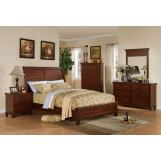 Acme Urbana Sleigh Platform Bedroom Set in Walnut