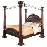 Coaster Grand Prado Queen Poster Bed in Brown Cherry 202201Q CLEARANCE