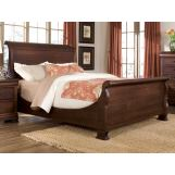Durham Furniture Vineyard Creek Queen Master Sleigh Bed in Antique Rye 112-129