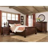 Durham Furniture Vineyard Creek 4-Piece Master Sleigh Bedroom Set in Aged Wheat