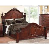 Acme Estrella Queen Poster Bed in Dark Cherry 21730Q