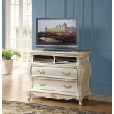 Acme Chantelle TV Console in Pearl White 23547 SPECIAL