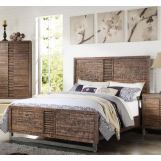 Acme Andria Queen Platform Bed in Reclaimed Oak 21290Q