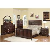 Meridian Brooke 4-Piece Panel Bedroom Set in Espresso